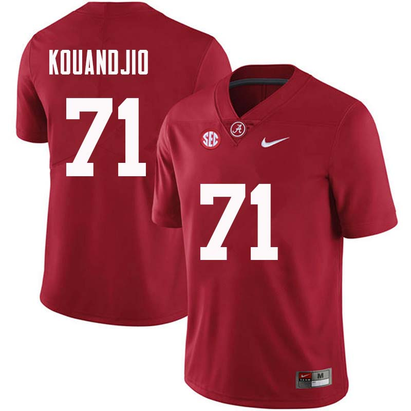Men #71 Cyrus Kouandjio Alabama Crimson Tide College Football Jerseys Sale-Crimson